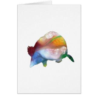 Cartão Arte da toupeira