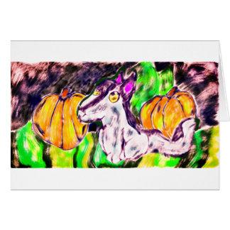 Cartão arte das abóboras do lobo