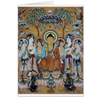 Cartão Arte das cavernas de Dunhuang Mogao de Buddha e de