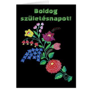 Cartão Arte de Kalocsai do Hungarian