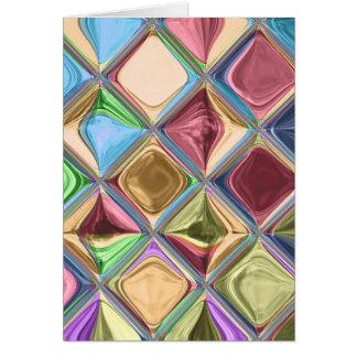 Cartão Arte do azulejo de mosaico de Candydrops dos