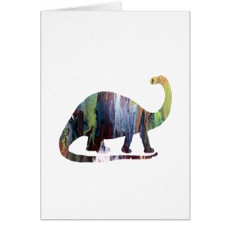 Cartão Arte do Brontosaurus
