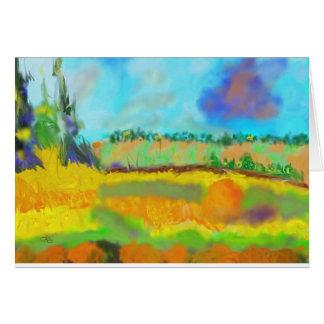 Cartão Arte do campo, após Pissarro