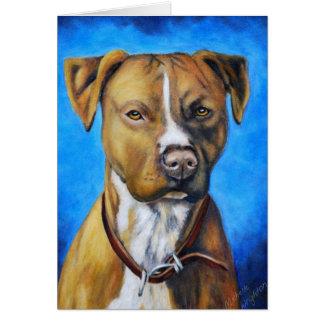 Cartão Arte do cão de Staffordshire americano Terrier do