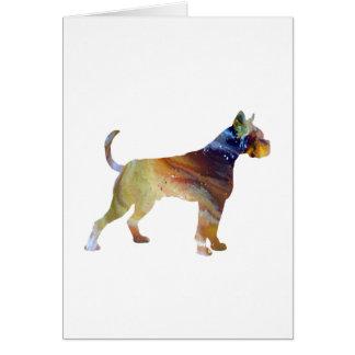 Cartão Arte do cão do pugilista