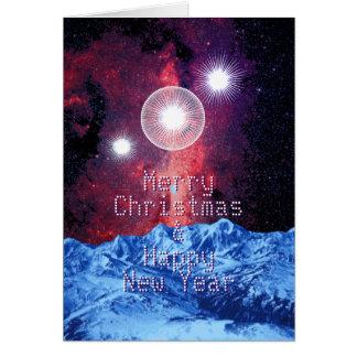 Cartão Arte do espaço das montanhas da galáxia das