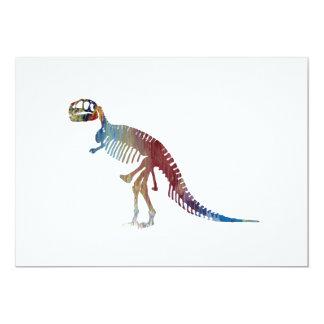 Cartão Arte do esqueleto do rex do tiranossauro