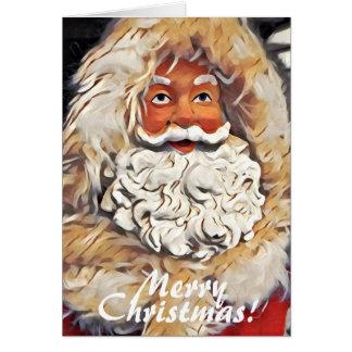 Cartão Arte do Feliz Natal de Papai Noel