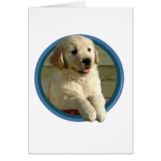 Cartão Arte do filhote de cachorro do golden retriever