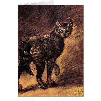 Cartão Arte do gato - arte do vintage - Steinlen
