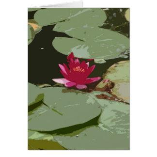 Cartão Arte do impressionismo de Lilypads