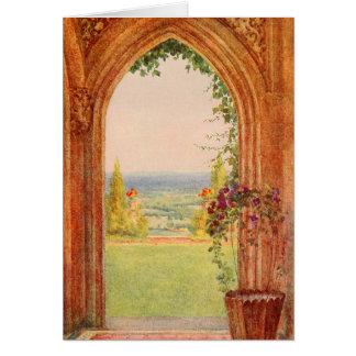 Cartão Arte do jardim do vintage - Allingham, Helen