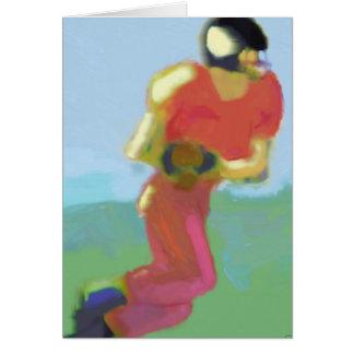 Cartão Arte do jogador de futebol