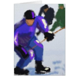 Cartão Arte do jogo do hóquei