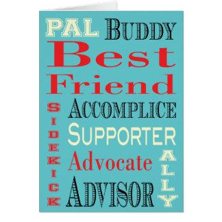 Cartão Arte do metro do melhor amigo