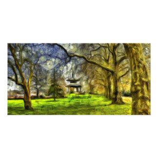 Cartão Arte do pagode do parque de Battersea