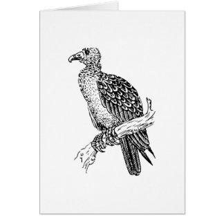 Cartão Arte do pássaro do Buzzard
