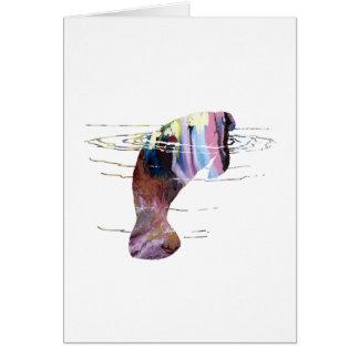 Cartão Arte do peixe-boi