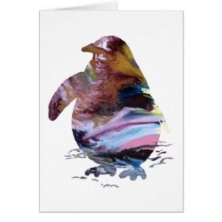Cartão Arte do pinguim