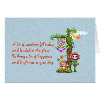 Cartão Arte do pixel dos amigos do jardim