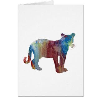 Cartão Arte do puma/puma