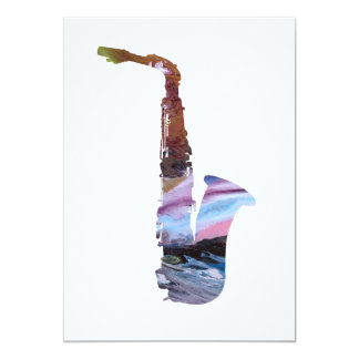 Cartão Arte do saxofone
