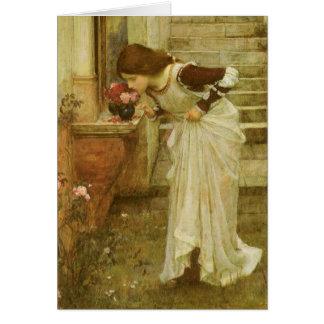 Cartão Arte do Victorian do vintage, o santuário pelo