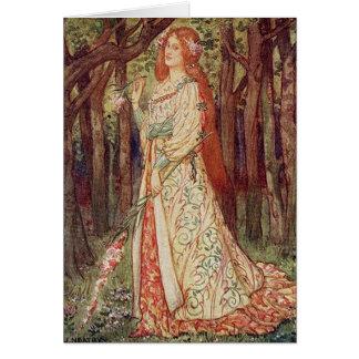 Cartão Arte do vintage - dama Sem Merci do Belle do La