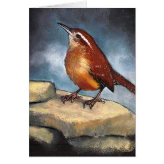 Cartão Arte dos animais selvagens: Carriça de Carolina em