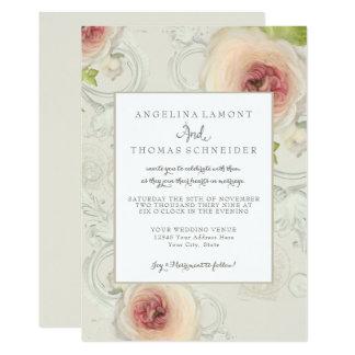 Cartão Arte floral da flor elegante moderna de Scrollwork