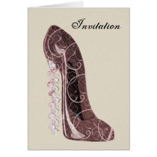 Cartão Arte floral dos calçados do estilete