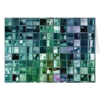 Cartão Arte líquida do azulejo de mosaico do mar profundo