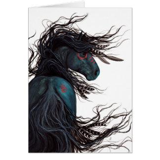Cartão Arte majestosa do cavalo do frisão por BiHrLe