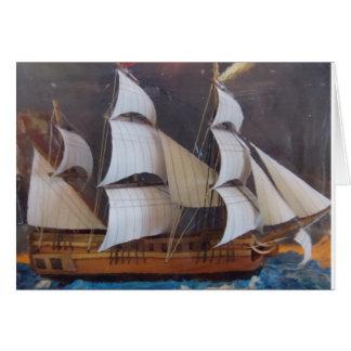 Cartão Arte marítima da garrafa