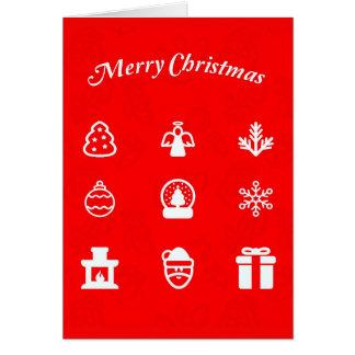 Cartão Arte-Natal 117 de Cartão-Feriado do cumprimento