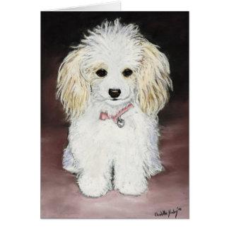 Cartão Arte Notecard do cão de caniche do brinquedo
