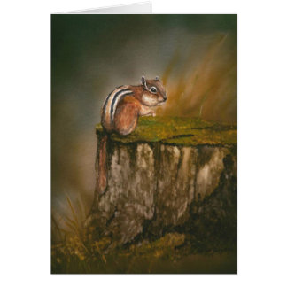 """Cartão Arte Notecard dos animais selvagens do """"Chipmunk"""""""