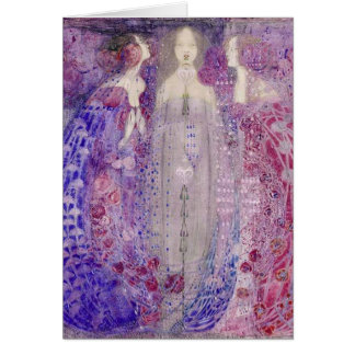 Cartão Arte Nouveau de MacDonald os três perfumes