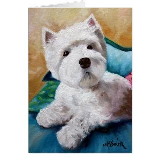 Cartão Arte ocidental do filhote de cachorro do cão de