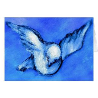Cartão Arte Pomba-Original da paz por Streater QUADRADO