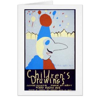Cartão Arte por crianças WPA 1939