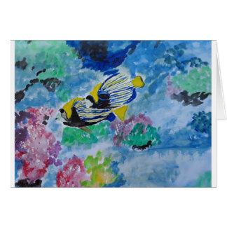 Cartão arte profunda do oceano