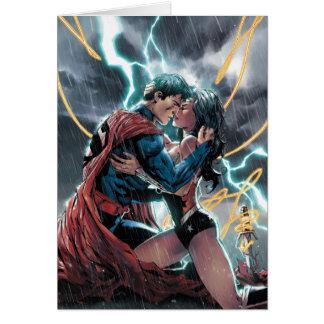 Cartão Arte relativa à promoção cómica do superman/mulher