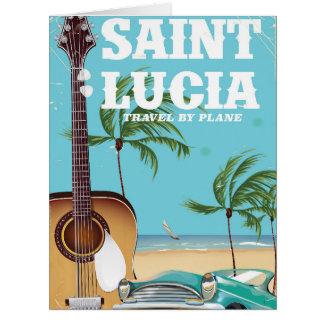 Cartão Arte retro do poster do feriado de Lucia de santo