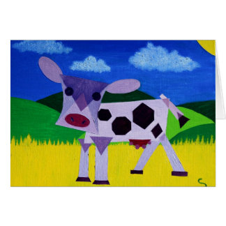 Cartão Arte roxa da vaca