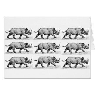 Cartão Arte Running dos Rhinos