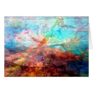 Cartão Arte subaquática de inspiração bonita da cena
