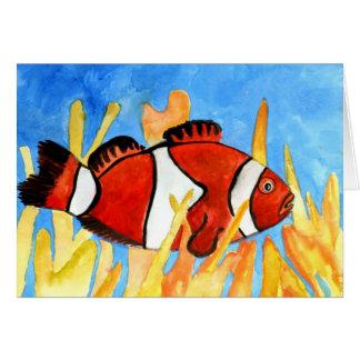 Cartão arte tropical do sealife do aquário dos peixes do