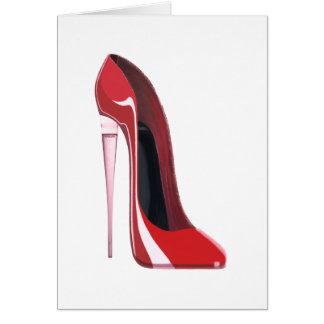 Cartão Arte vermelha do estilete da flauta do salto de