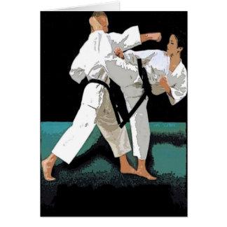 Cartão Artes marciais